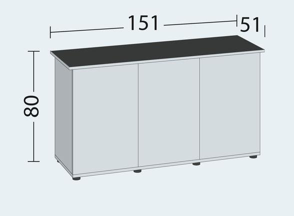 misura tavolo RIO 450